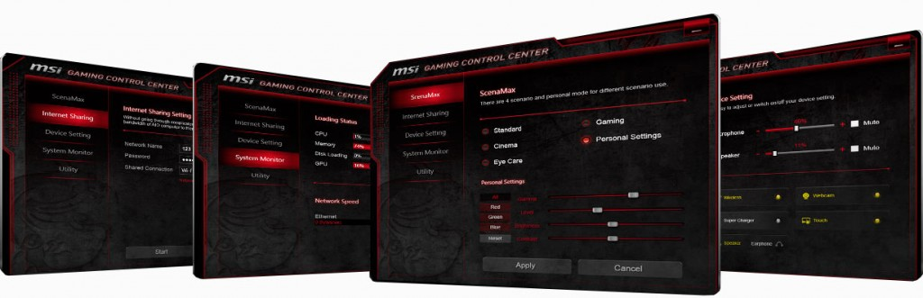 MSI Gaming Control Center