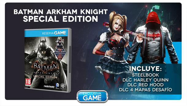 Batman Arkham Knight, edición especial en GAME