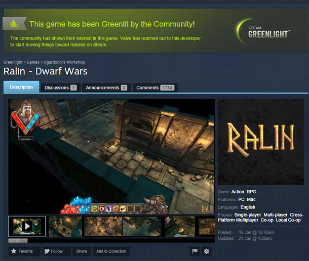 Ralin Dwarf Wars en Kickstarter