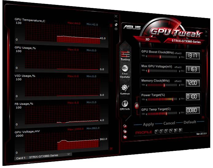 Asus Strix GTX 960 DirectCU II Edition - GPU Tweak