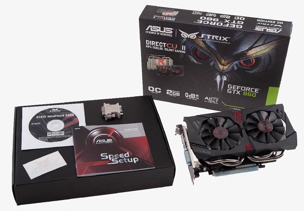 Asus Strix GTX 960 DirectCU II Edition - contenido