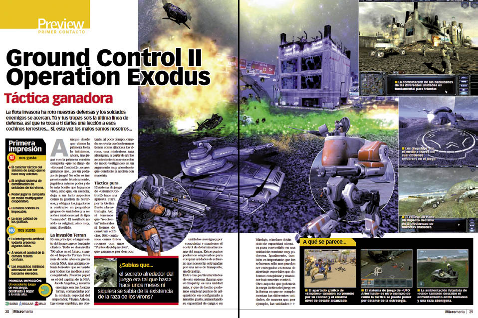 MICROMANIA 112 - Preview Ground Control II