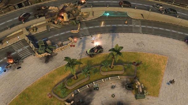 Halo Spartan Strike es un juego de acción con perspectiva cenital.