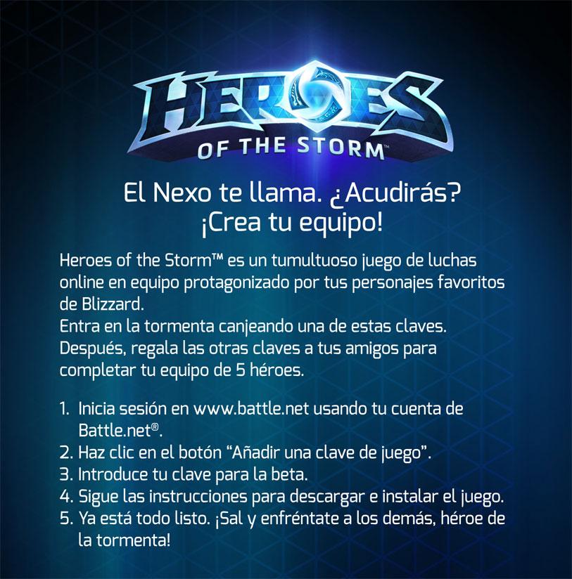 Consigue tu clave de Heroes of the Storm