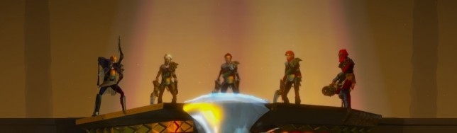 En Massive Chalice grupos de personajes se enfrentan por turnos al enemigo.