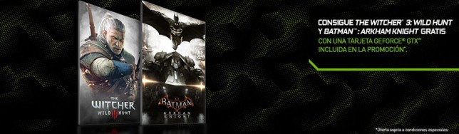 Nvidia bundle Batman, Witcher