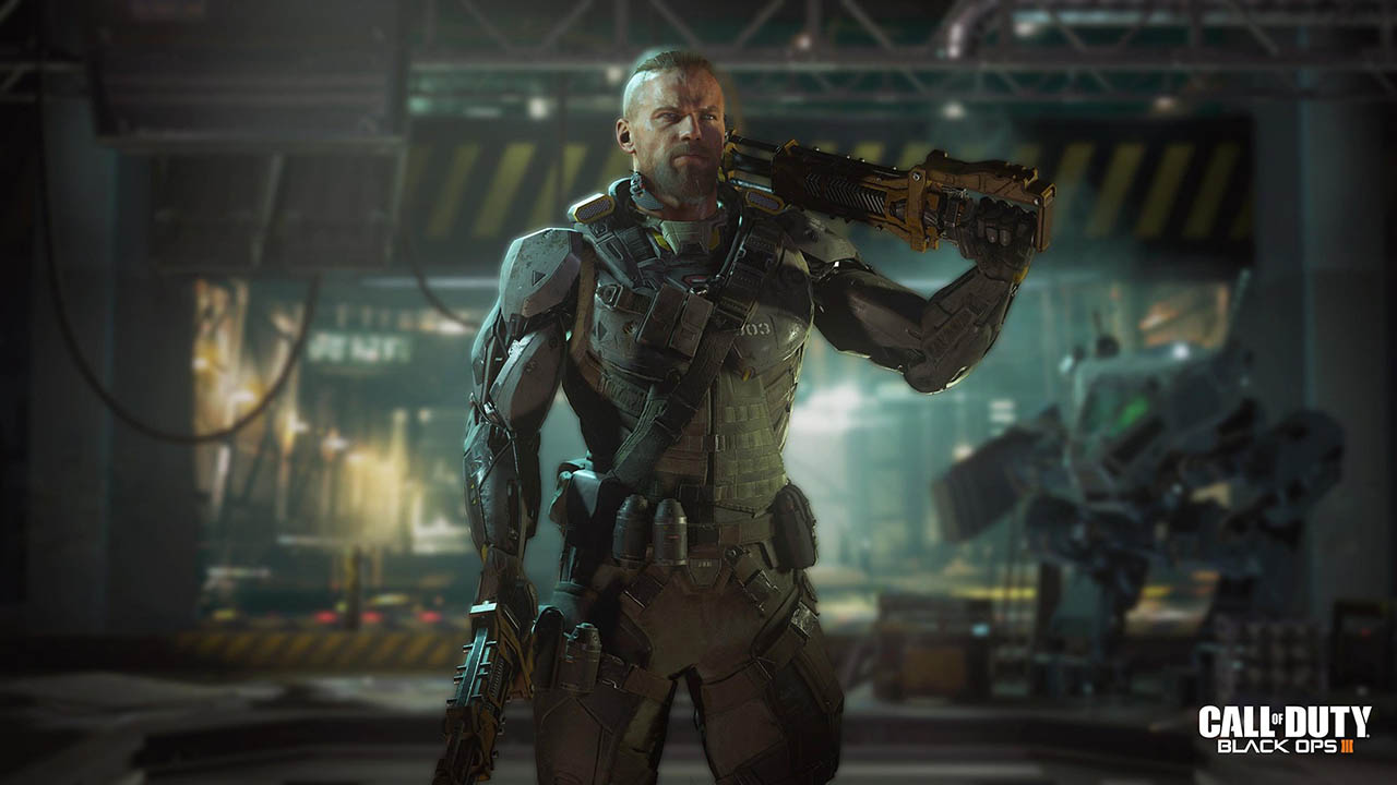 Este tipo parece muy duro, pero toda esa pose es fruto de las máquinas, que le han chupado el seso, o al menos esto intuyo que contará Call of Duty Black Ops 3.