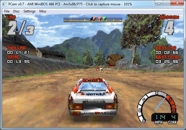 Muchos juegos 3D funcionan con renderizado de software en PCem.