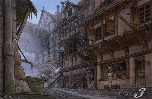 Syberia III sigue empleando los tonos marrones apagados que corresponden a una fantasía steampunk.