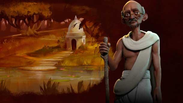 Mahatma Gandhi en Civilization VI