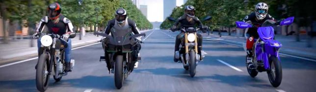 Ride 2 cuatro motoristas