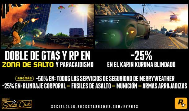 bonificaciones de GTA Online