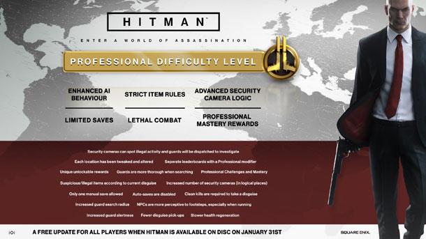 dificultad de Hitman
