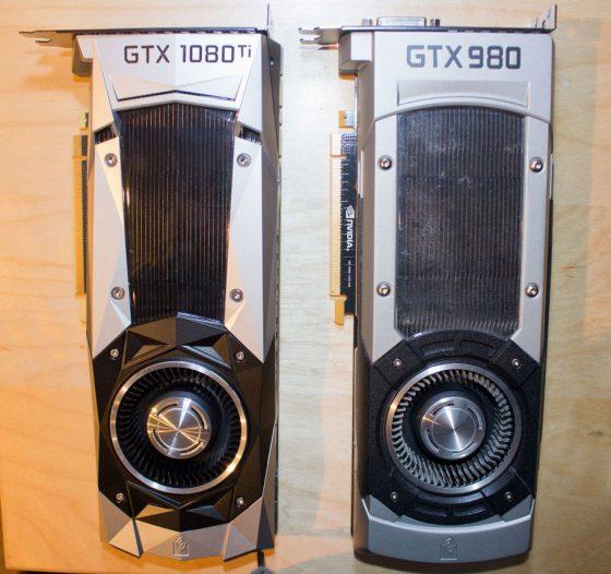 El tamaño de la GTX 1080 Ti es ya estándar.