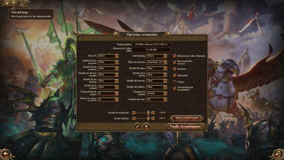 TW Warhammer en Ultra y DX 11 con GTX 1080 Ti