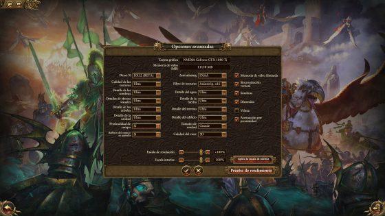 TW Warhammer en Ultra y DX 12 con GTX 1080 Ti