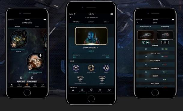 Imágenes de la companion app de Mass Effect Andromeda, Apex HQ.