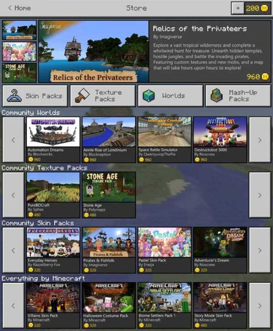Más Mojang... El nuevo Minecraft Marketplace ofrecerá contenido de la comunidad