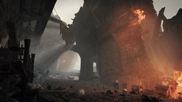 Las primeras imágenes del recién anunciado Warhammer Vermintide 2, disponibles en su página de Steam, son paisajes como este.