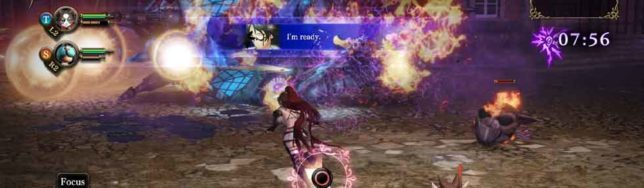 combate de Nights of Azure 2