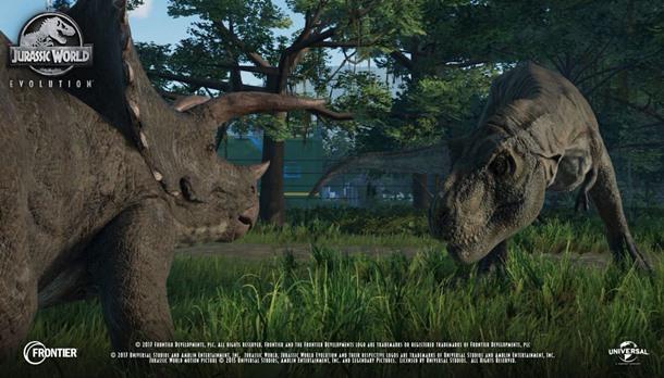 Las nuevas imágenes de Jurassic World Evolution nos muestran varias clases de dinosaurios.