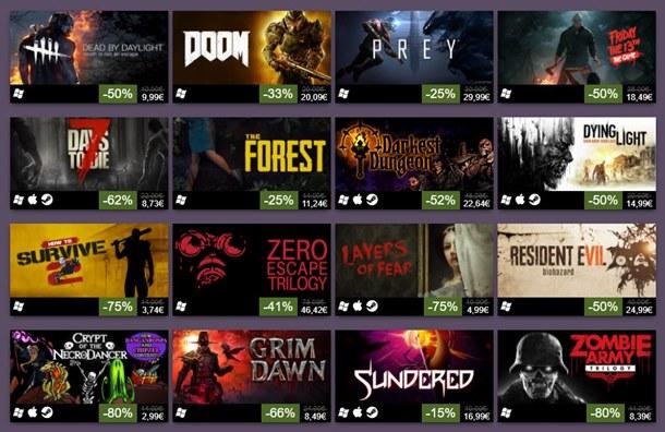 Disfruta de las ofertas de Halloween 2017 en Steam.