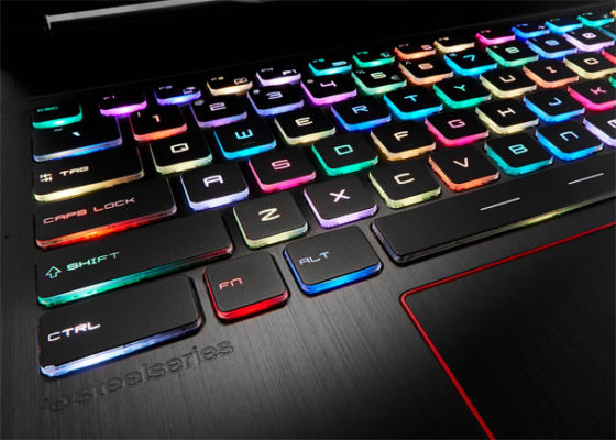 El teclado del MSI GE63VR 7RF Raider