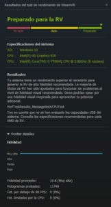 Benchmark de SteamVR