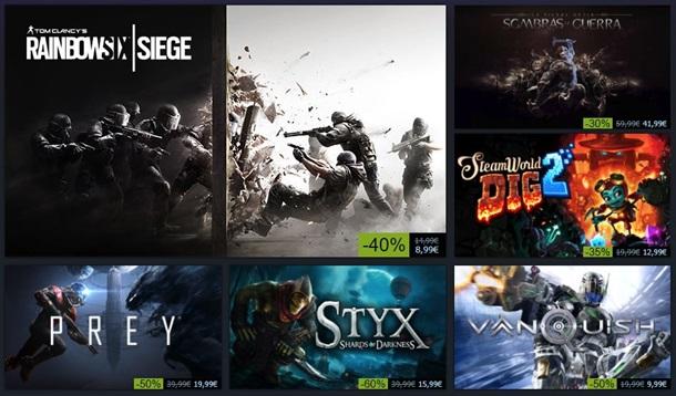 Algunas de las rebajas de invierno 2017 en Steam.