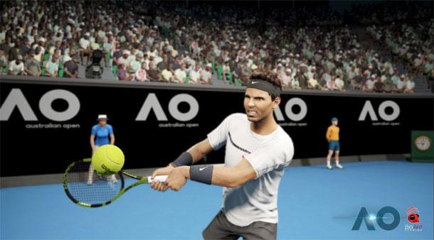 gameplay de AO Tennis