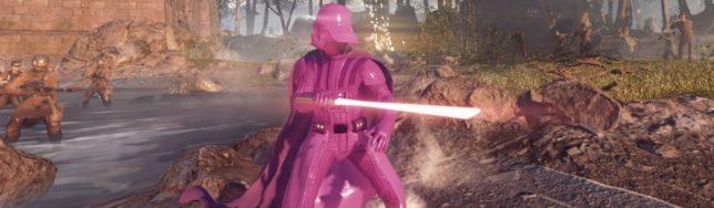 Darth Vader rosa en Star Wars Battlefront 2 luce así.