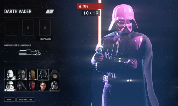 Darth Vader rosa en Star Wars Battlefront 2 luce así.