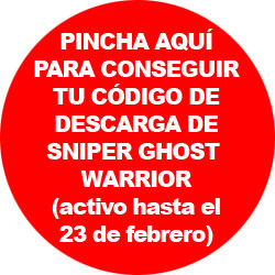 Consigue tu código de Sniper Ghost Warrior