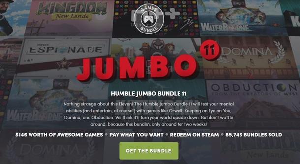 Todos los contenidos del Humble Jumbo Bundle 11.