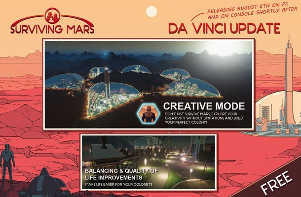 El modo creativo en Surviving Mars ya está disponible.