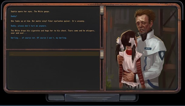Gameplay de Encased y su narrativa.