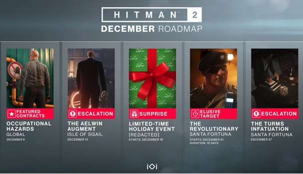 Contenidos que tendremos en diciembre en Hitman 2.
