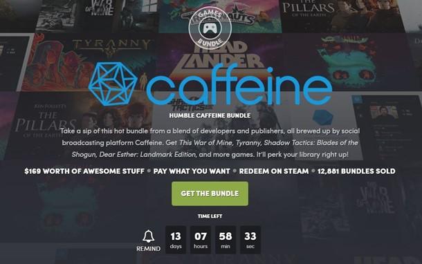 Nuevo Humble Caffeine Bundle con ocho juegos.