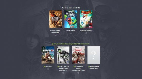 No es como si ninguno de los juegos que ofrece el Humble Bundle de Ubisoft fuese moderno o una joya, pero nunca está de más comprar juegos baratos.